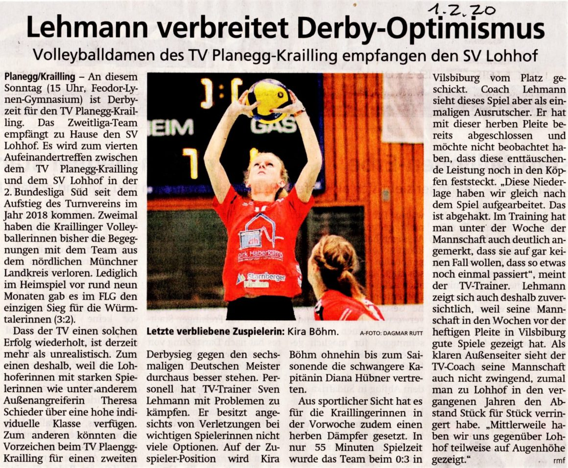 Lehmann verbreitet Derby Optimismus